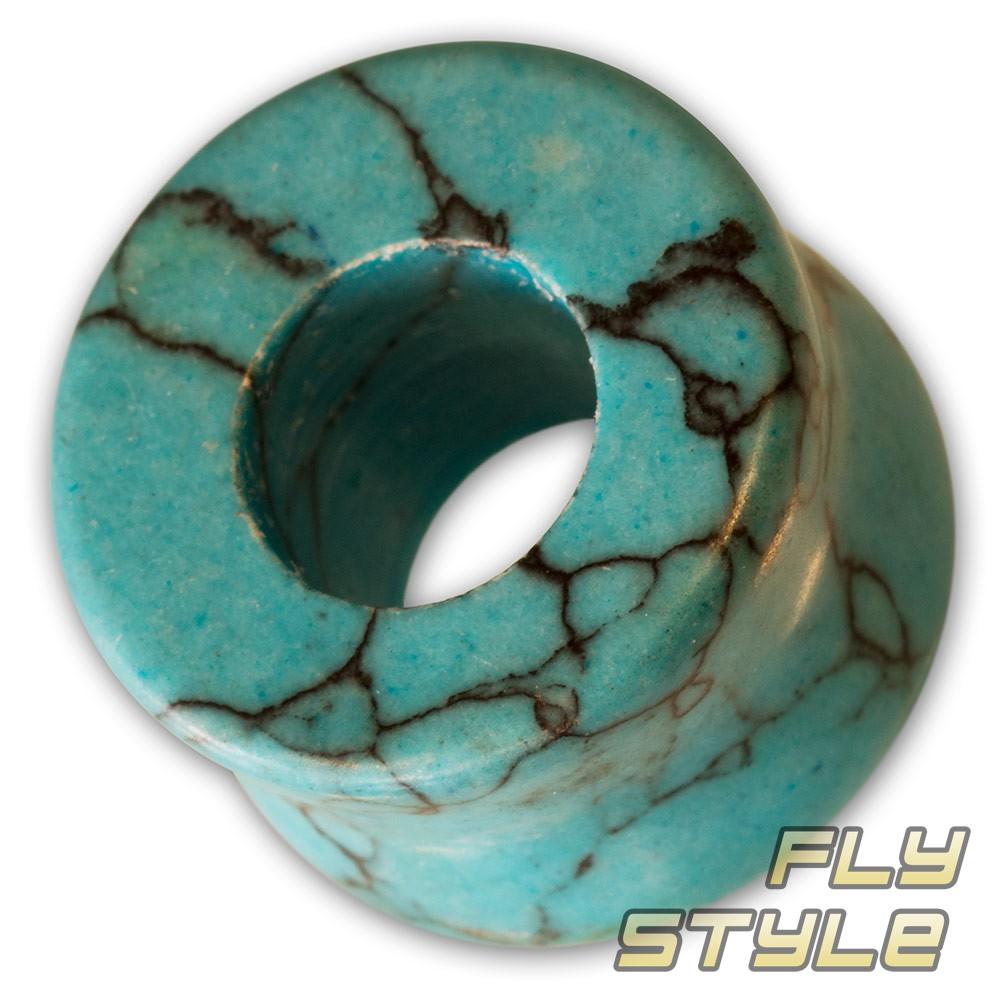 stein flesh tunnel piercing ohr plug ear stone tube t rkis turquoise marmor horn ebay. Black Bedroom Furniture Sets. Home Design Ideas