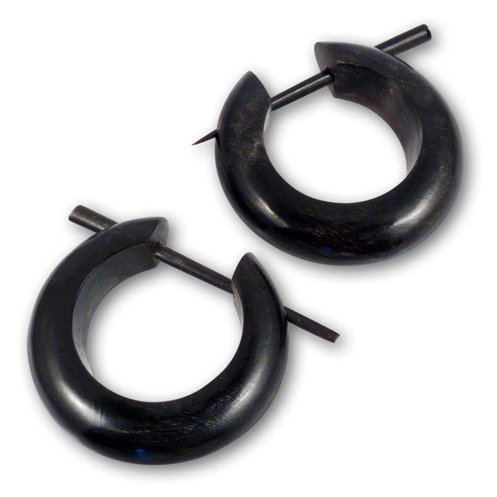 horn ohrringe