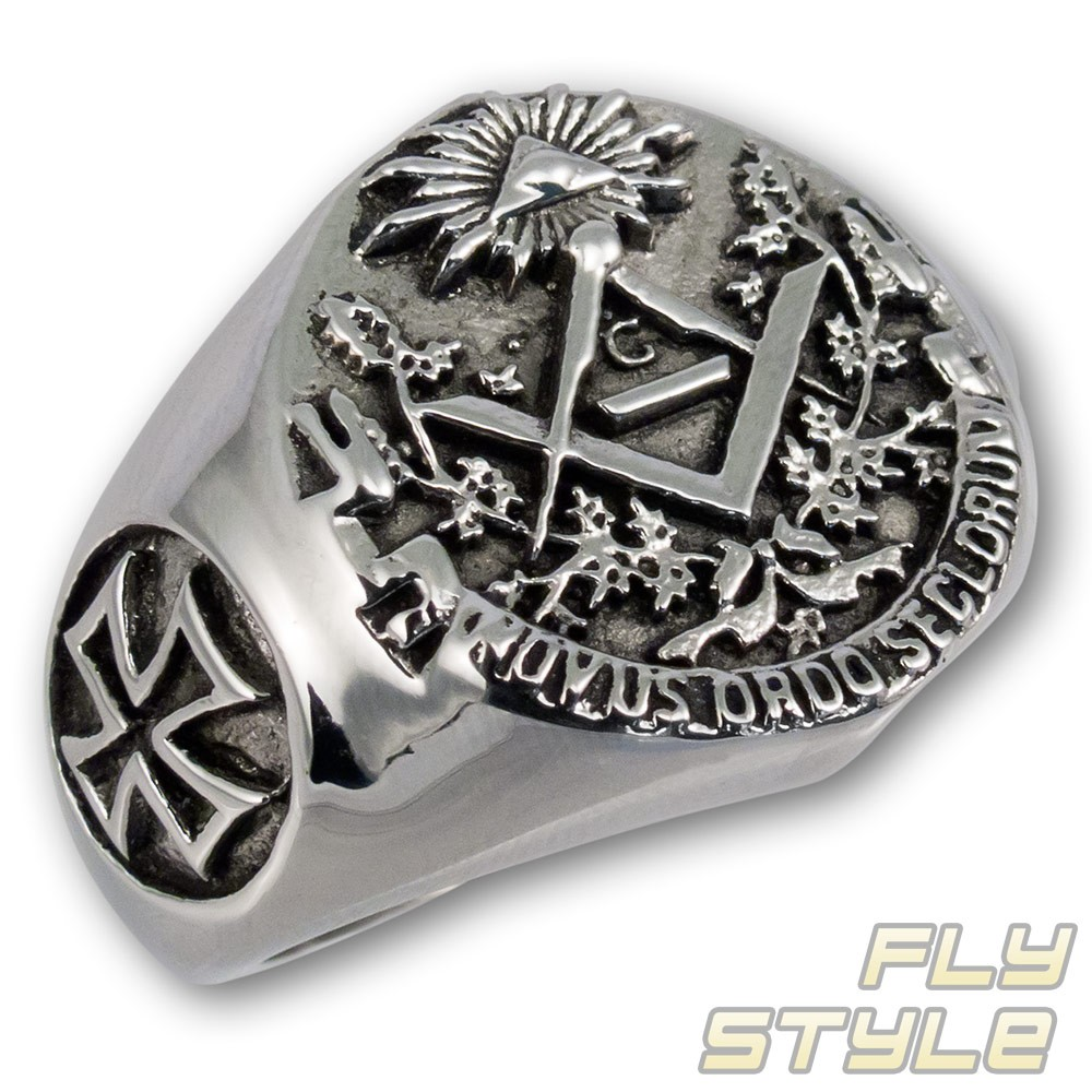 SIGNET RING STAINLESS STEEL masonic illuminati freemason templar knight symbol G : eBay