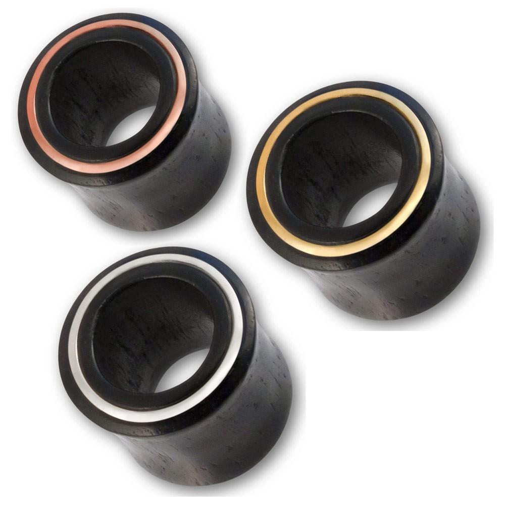 flesh tunnel holz silber gold kupfer ohr piercing tube ear. Black Bedroom Furniture Sets. Home Design Ideas