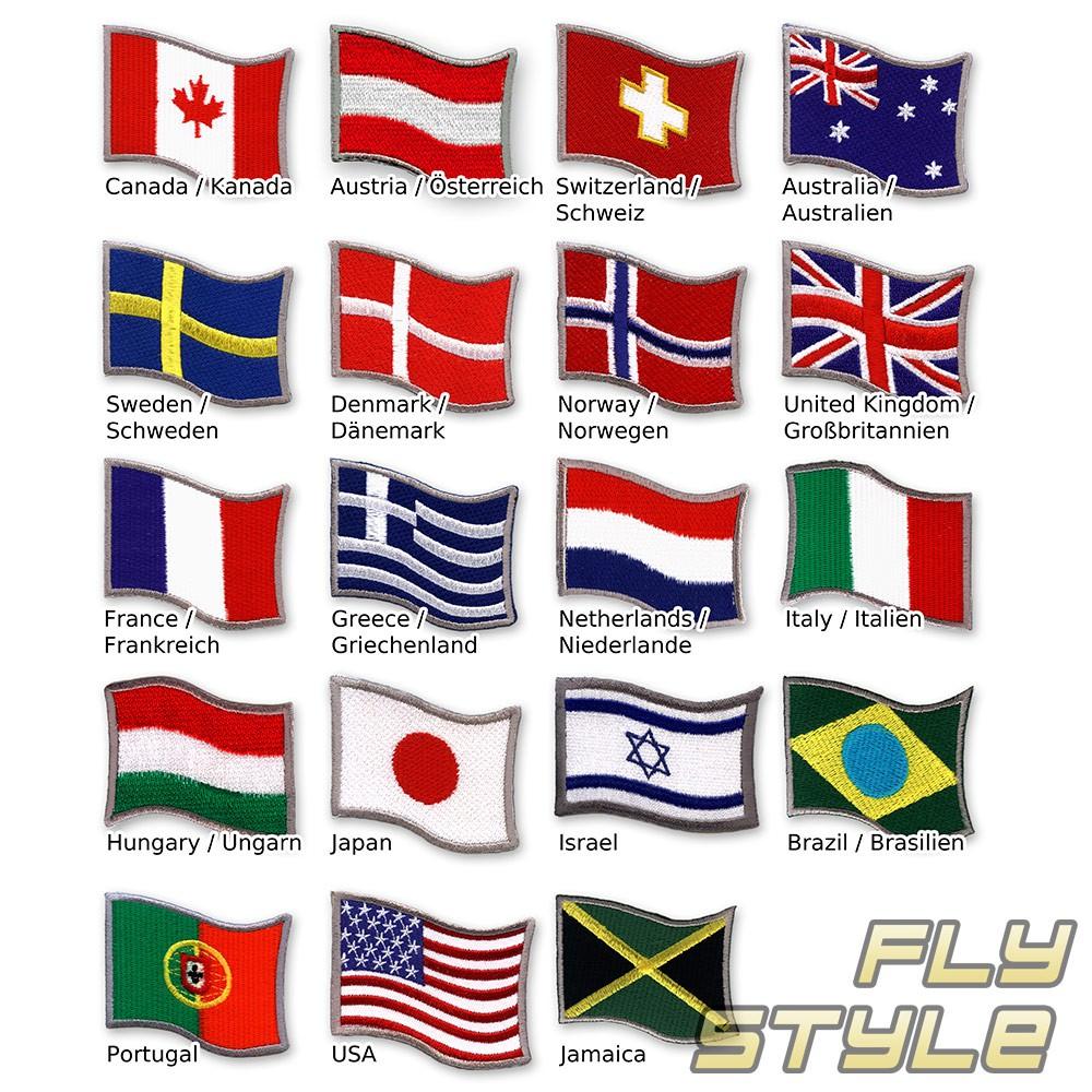 Aufbügler Flagge Fahne Land Aufnäher Patch Flicken WM 2014