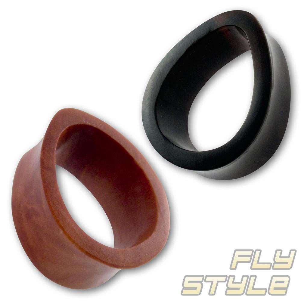 tube flesh tunnel horn holz teardrop tropfen ear ohr plug. Black Bedroom Furniture Sets. Home Design Ideas