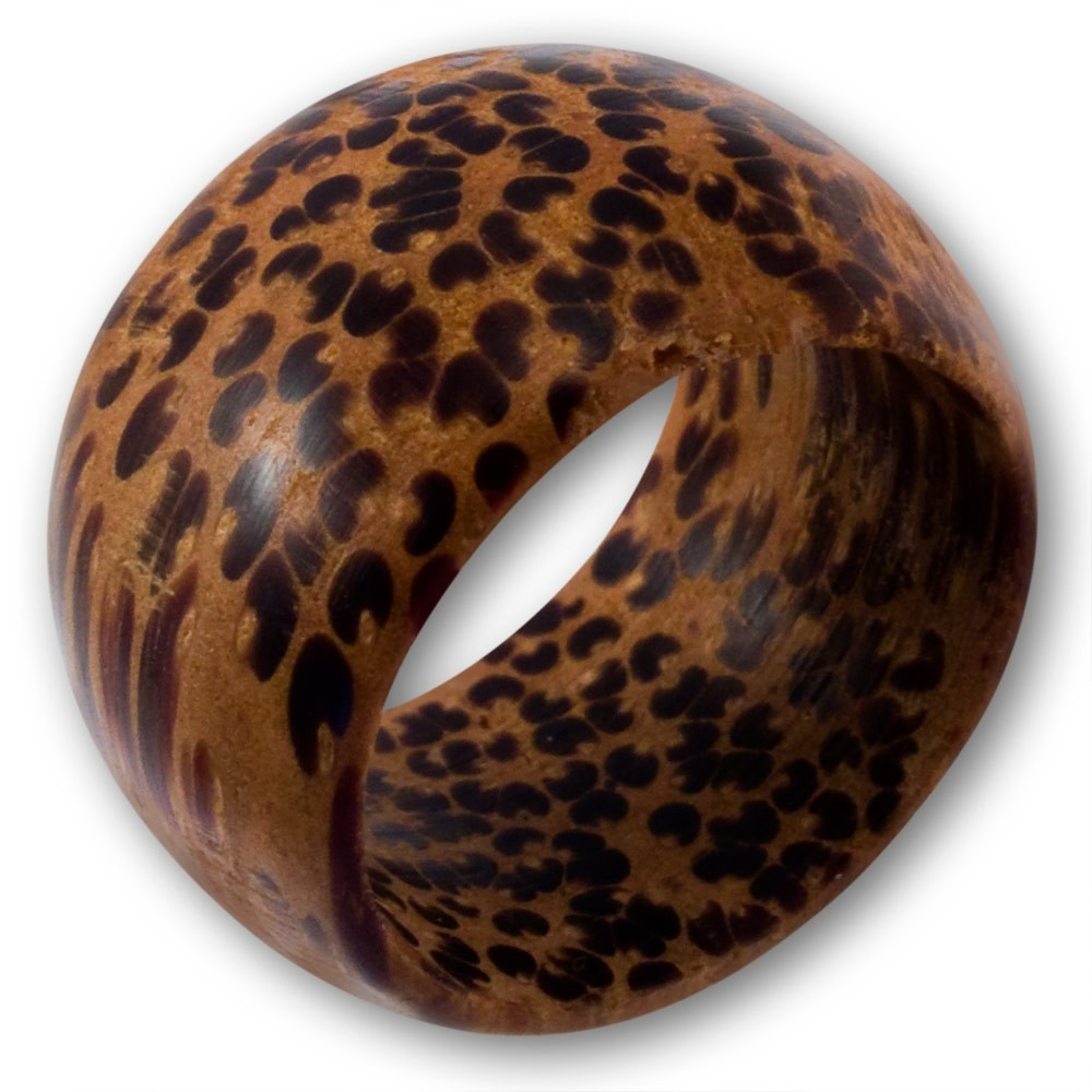 holz ring holzring leopard coconut kokosnuss leo bandring natur schmuck braun ebay. Black Bedroom Furniture Sets. Home Design Ideas