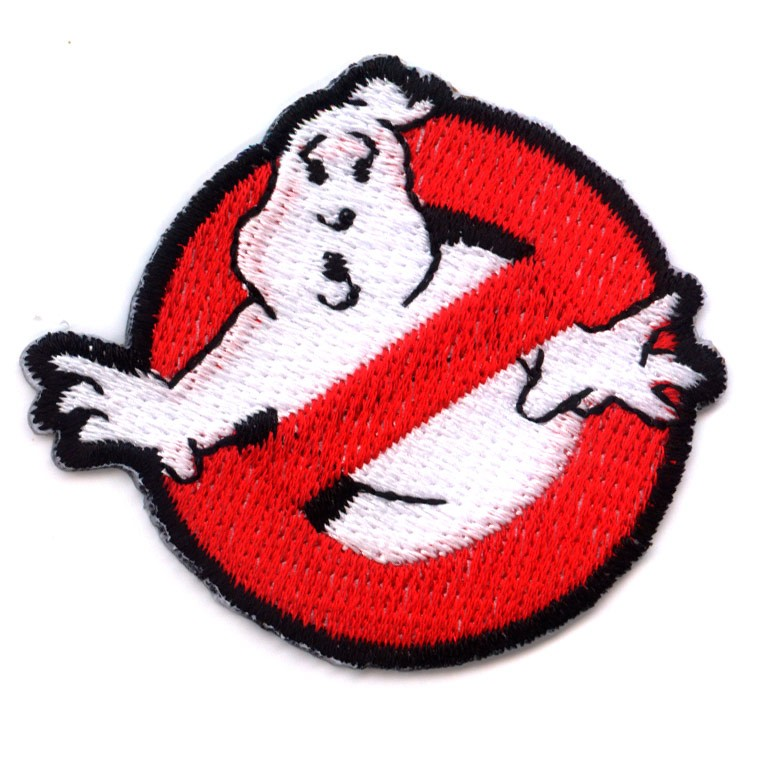 PATCH-AUFNAHER-AUFBUGLER-GHOSTBUSTERS-80er-KULT-GESPENST-ROCKABILLY-EMO-PUNK