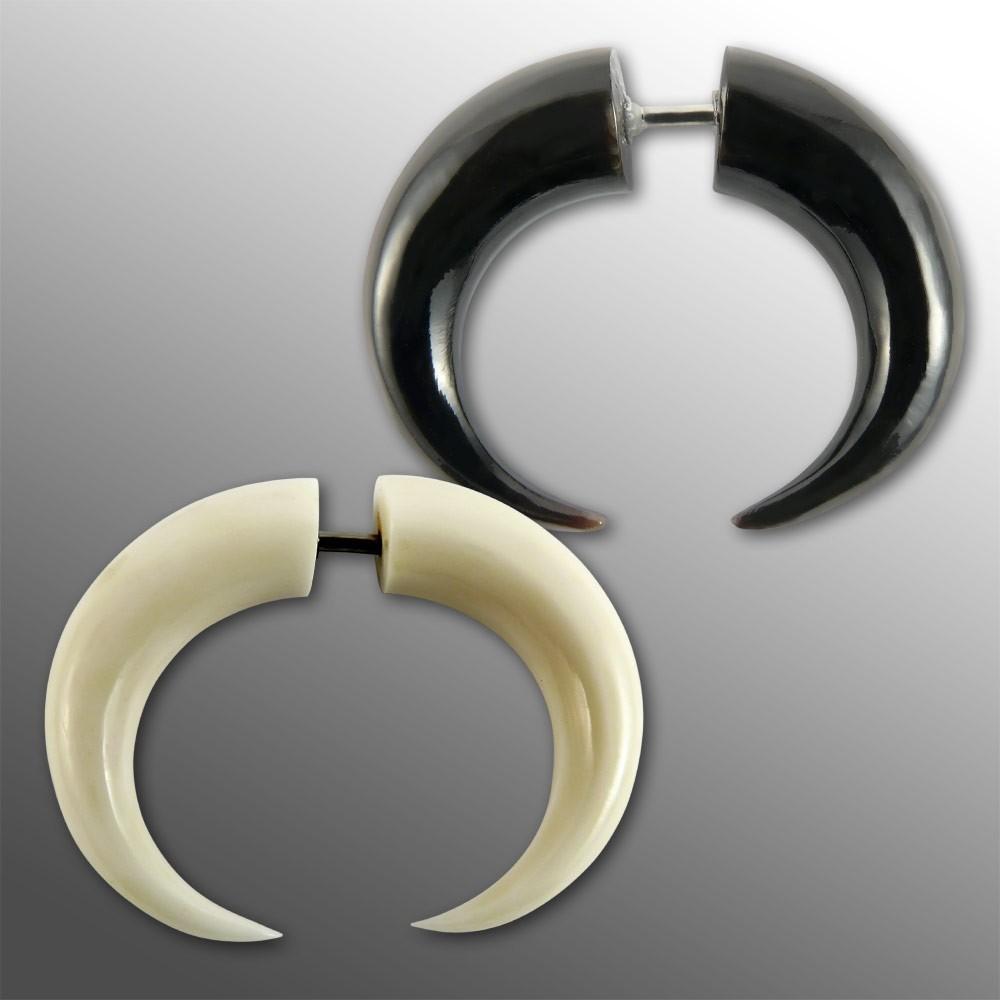 Horn Expander Sichel klaue spirale taper ohr piercing flesh tunnel pincher plug