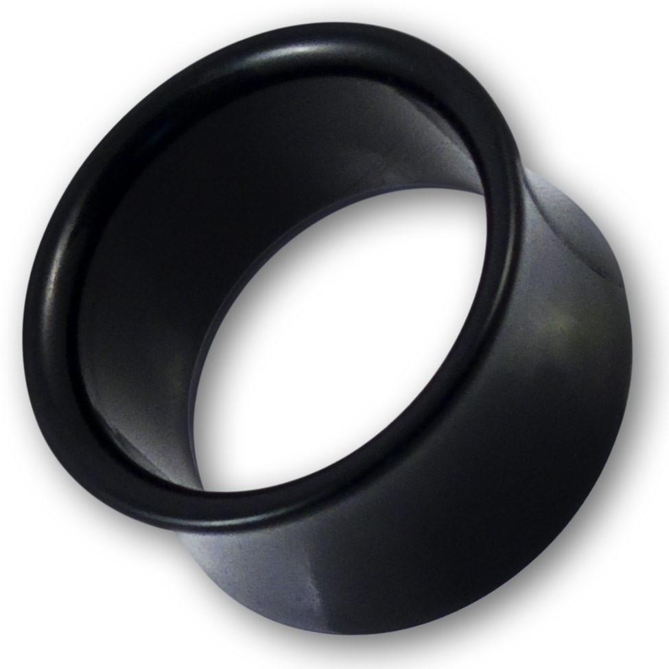 2 16mm acryl flesh tunnel ohr piercing ear tube plug earlets schwarz weiss flash ebay. Black Bedroom Furniture Sets. Home Design Ideas