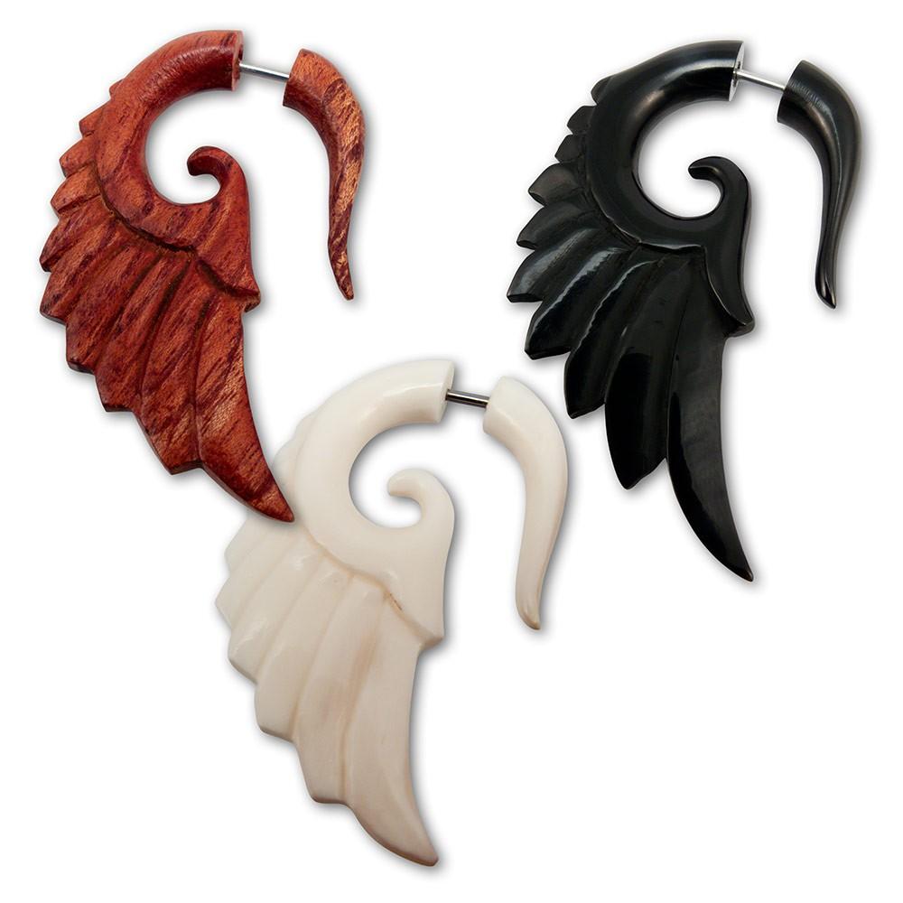 Fake Spirale - Engelsflügel - aus Holz, Horn oder Knochen