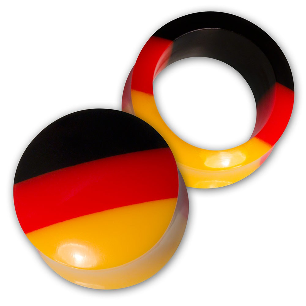 Flesh Tunnel / Plug - Deutschland Fahne