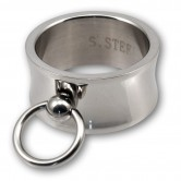 "Stainless Steel Ring ""Ring of O"" - wide & concave"