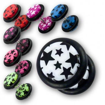 "Fake Plug ""Stars"" in seven different colors – picture 1"