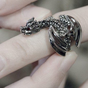 Stainless Steel Ring - Winged Dragon – picture 5