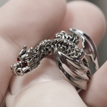 Stainless Steel Ring - Winged Dragon – picture 3