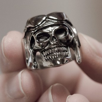 Stainless Steel Skull Ring - Pilot – picture 3