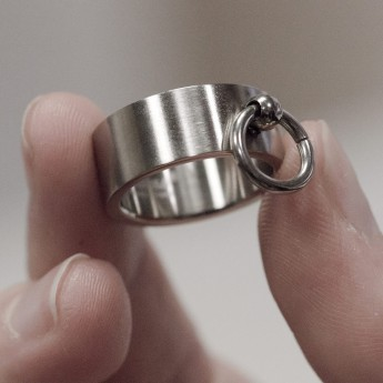 Ring of O - 316L stainless steel - with movable slave ring – picture 5