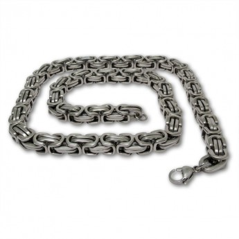 9mm thick Square Stainless Steel Byzantine King Chain / Necklace or Bracelet – picture 7