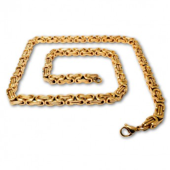 9mm thick Square Stainless Steel Byzantine King Chain / Necklace or Bracelet – picture 9