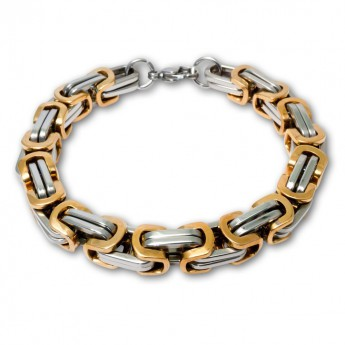 9mm thick Square Stainless Steel Byzantine King Chain / Necklace or Bracelet – picture 10