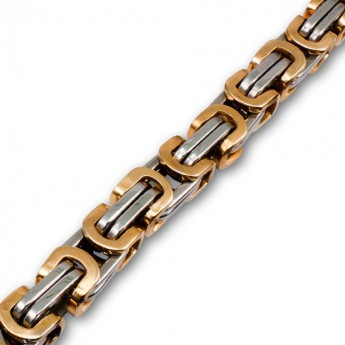 9mm thick Square Stainless Steel Byzantine King Chain / Necklace or Bracelet – picture 4