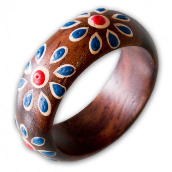 Ladys ring from Wood with different Floral Motifs – picture 6