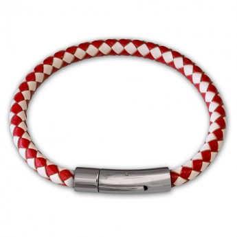 6mm thick Bracelet from genuine braided leather with Stainless Steel Design Clasp in different colors – picture 9