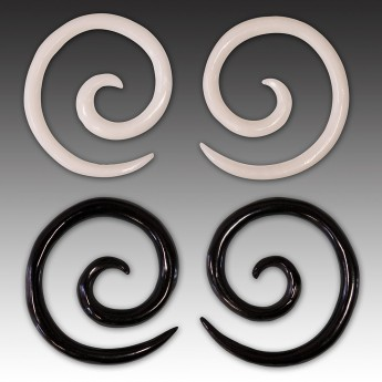 1 pair - 2mm Spiral Earrings from American Buffalo Bone or Horn – picture 1