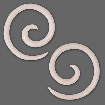 1 pair - 2mm Spiral Earrings from American Buffalo Bone or Horn – picture 2