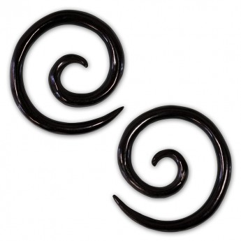1 pair - 2mm Spiral Earrings from American Buffalo Bone or Horn – picture 3