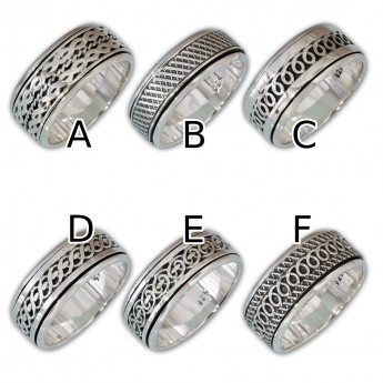 Different moveable 925. Silver Spinning Rings with various Celtic Patterns – picture 2
