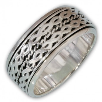 Different moveable 925. Silver Spinning Rings with various Celtic Patterns – picture 3