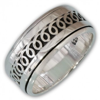 Different moveable 925. Silver Spinning Rings with various Celtic Patterns – picture 5