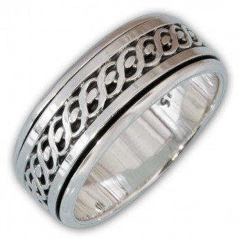 Different moveable 925. Silver Spinning Rings with various Celtic Patterns – picture 6
