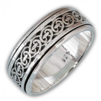 Different moveable 925. Silver Spinning Rings with various Celtic Patterns – picture 7