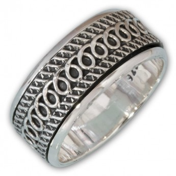 Different moveable 925. Silver Spinning Rings with various Celtic Patterns – picture 8