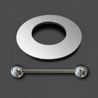 10mm Nipple-Shield Piercing from high polished 316L surgical steel – picture 2