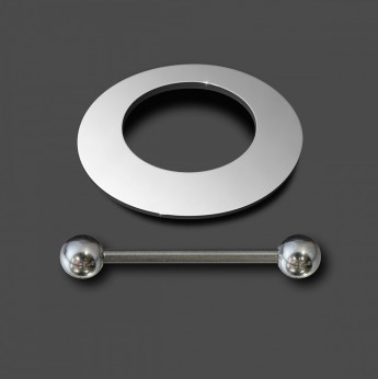 12mm Nipple-Shield Piercing from high polished 316L surgical steel – picture 2