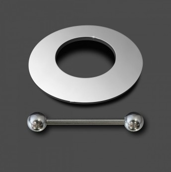 12mm Nipple-Shield Piercing from high polished 316L surgical steel – picture 3