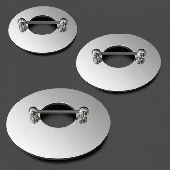 16mm Nipple-Shield Piercing from high polished 316L surgical steel – picture 1