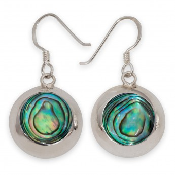 925 Sterling Silver Earrings with Paua Shell / Abalone Inlays