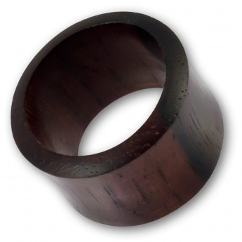 Plain Flesh Tube made of Makassar Ebony Wood