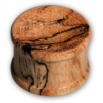 Concave Wood Top Hat Plug - Zebra Tamarind – picture 1