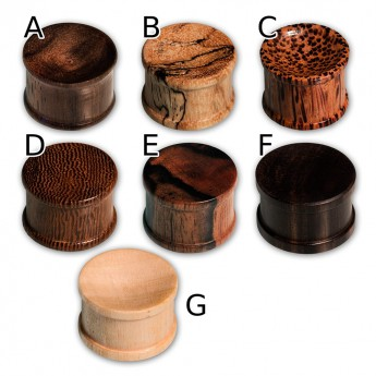 Concave Double Hat Plugs from different Woods – picture 2