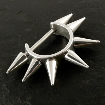 Spike Hoop Earrings from Stainless Steel