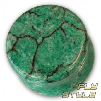 Stone Ear Plug - Green Howlite – picture 1