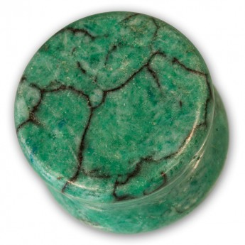 Stone Ear Plug - Green Howlite – picture 2