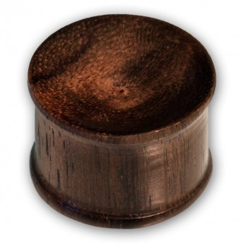 Sono Wood Ear Plug - Brown & Concave – picture 1