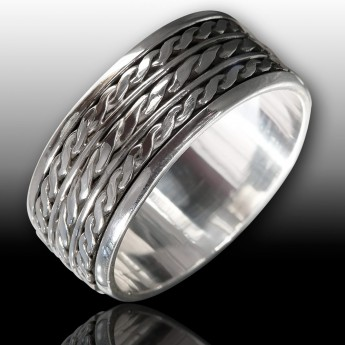 Meditation / Move ring with celtic braided pattern – picture 1