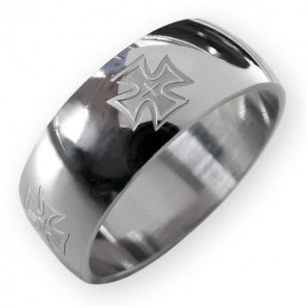 Stainless Steel Ring - Iron Cross