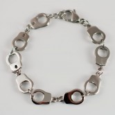 "Stainless Steel Bracelet ""Handcuffs"" from 316L surgical steel 001"