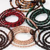 geflochtene und gewachste Halskette für Anhänger in sechs Farben