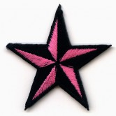 "Patch ""Pink Nautical Star"" 001"